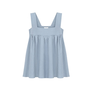 Tank Square Collar Sleeveless Solid Color Plus Size Tank Top