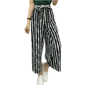 Pants Color Block High Waist Casual Wide Leg Pants
