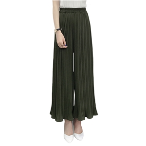 Pants Solid High Waist Casual Wide Leg Pants