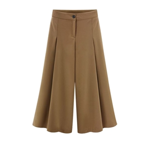 Plus Size Wide Leg Solid Pants