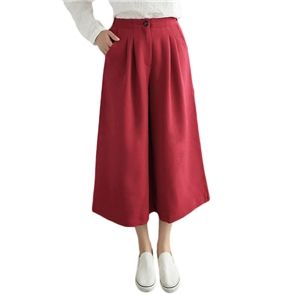 Elegant Wide Leg Cropped Pants For Women