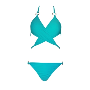 Two Pieces Halter Lace Up Bikini Swimsuits