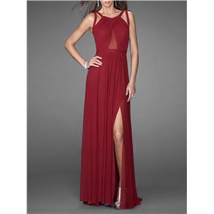 Maxi Long Dress Halterneck Sleeveless Backless Solid Color Sexy Dress