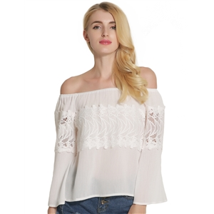 Sexy Strapless Long Sleeved Shirt