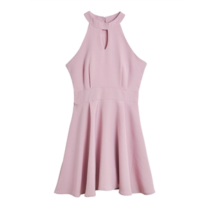 Dress Solid Color Sleeveless Aline Dress