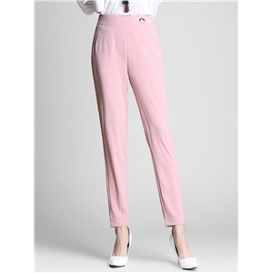 Pants Solid Casual Cropped Pants