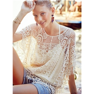 Crochet Lace Hollow Out Cover-up Beachwear