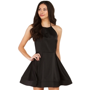 Halter Backless A-line Party Dress