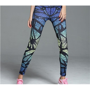Hyun color printing Slim Yoga pants