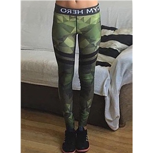 Camouflage Printed Skinny Sports Ankle Leggings