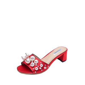 Slippers Groovy Exquisite Thick Heels Peep Toe Party Shoes