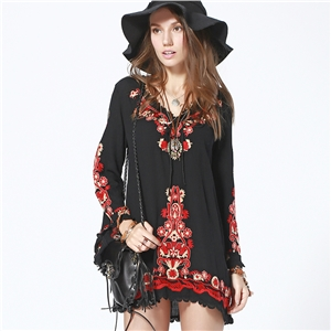 Bohemian Embroidery Dress