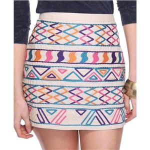 Tribal Embroidered Skirt