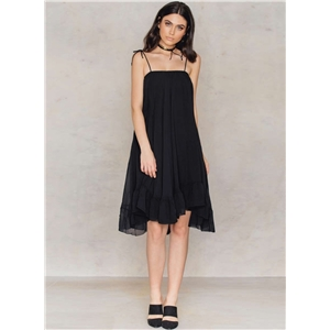 Spaghetti Strap Sleeveless Ruffled Dress