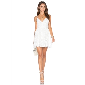 Fashion Backless Lace Slip Dress