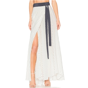 Polka Dots High Waist Split Maxi Skirt