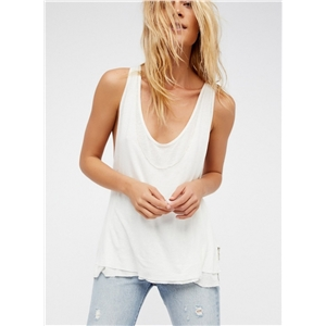 Fashion Solid Double Layer Hollow out Tank