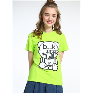 Short Sleeve Cartoon Printed Pullover Fashion Tee