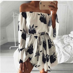 Sexy Strapless print dress
