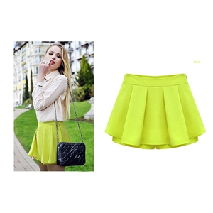 Candy color slim fold Chiffon Skirt