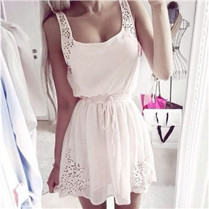 Sexy Summer Women Casual Dresses Sleeveless Cocktail Short Mini Dress Pop