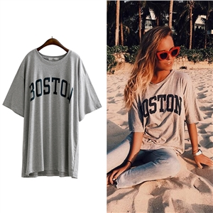 Leisure Street all-match printing letters T-shirt