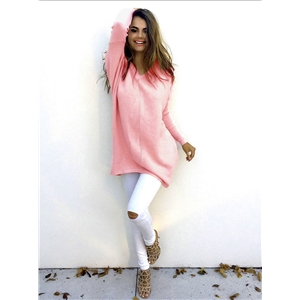 Fashion V long sleeved women's sweater