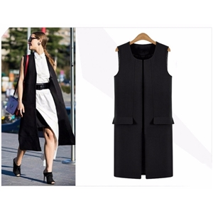 2017 autumn formal fashion brief elegant long design vest female