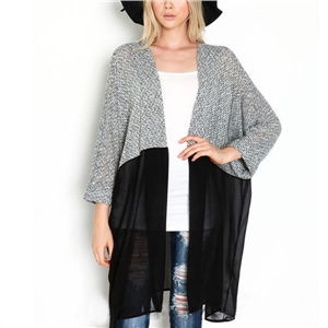 Long Cardigan Women Sweater Chic Lady Winter Knitted Cardigans
