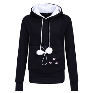 Cute Pullover Fleece Hoodie with Pocket