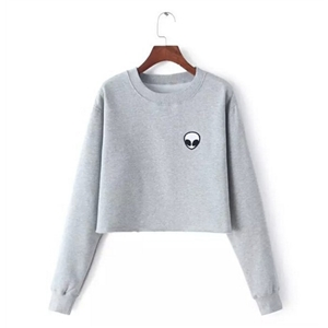 ET Aliens Printing Hoodies Sweatshirts harajuku Crew neck Sweats