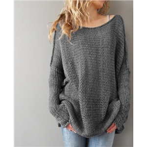 Long sleeved loose sweater