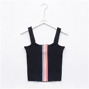 Zipper ring backless halter tops