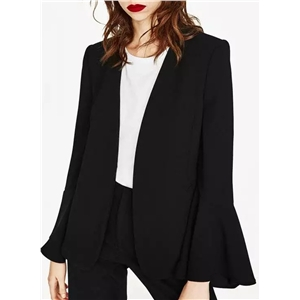 Flare Sleeve Solid Color Coats