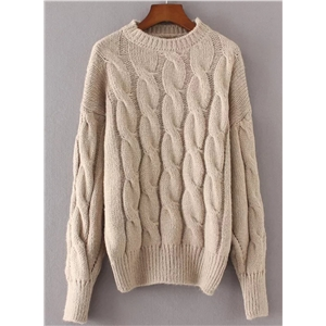 Pullover Round Neck Long Sleeve Sweaters