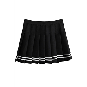 Sweet Preppy Style Pleated Mini Skirt