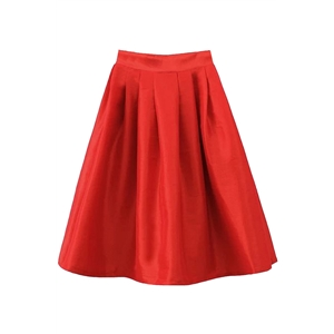 Structured Silhouette Swing Skirt