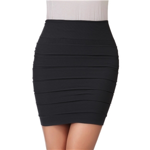 Fashion Ruched Bodycon Mini Pencil Skirt
