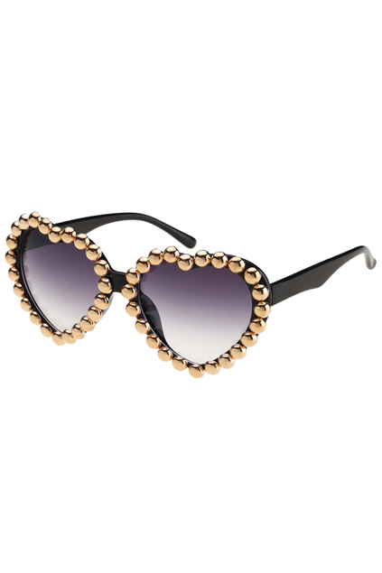 Glasses Shaped Photo Frame : Diamante Heart-shaped Frame Black Sunglasses victoriaswing