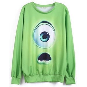 Green Monsters University Print Sweatshirt