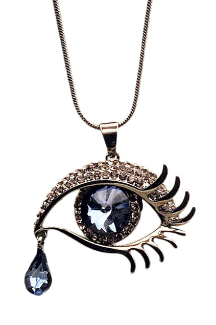 diamante eye shaped necklace victoriaswing