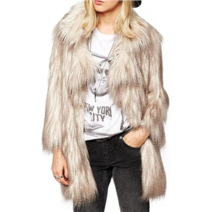 Faux Fur Gradient Coat
