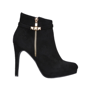 Black High Heel Zipper Boots