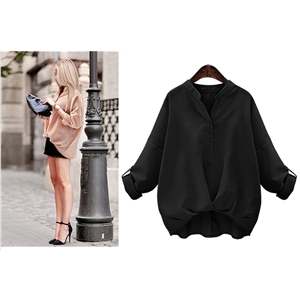 Cross Front Blouse Long Sleeve
