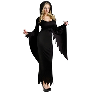 Black Vampire Bride Dress Halloween Masquerade RPG Costume