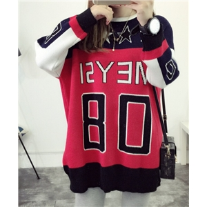 Long Section Digital Patterns Casual Sweater