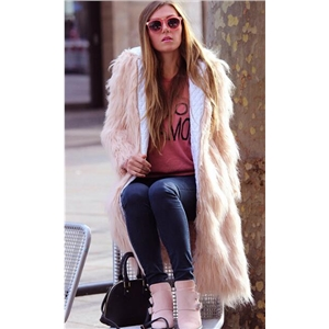 Fake Fur Long Thicker Hooded Coat