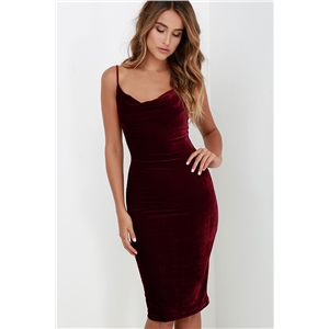 Slip Velvet Bodycon Dress