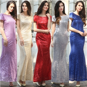 Sequins sexy evening dress