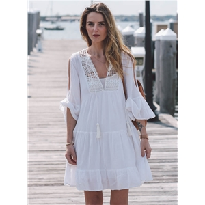 Loose Fit off Shoulder Bikini Cover up Dress